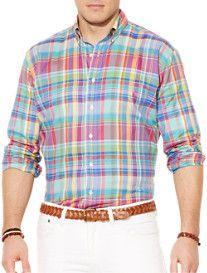 Polo Ralph Lauren® Plaid Pinpoint Oxford Sport Shirt