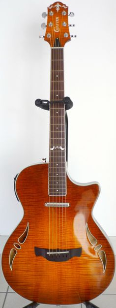 frettedchordophones: Crafter SA hybrid Guitar =Lardys Chordophone of the day - a year ago --- https://www.pinterest.com/lardyfatboy/