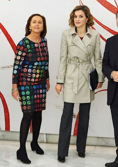Queen Letizia of Spain attends a seminar at National Library