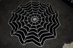 Spiderweb Blanket Black - Crocheted Baby Blanket, Photography Prop. $80.00, via Etsy.