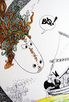 Ruffen - Thore Hansen Zentangle, Thor, Mythology, Snoopy, Paintings, Illustrations, Comics, Film, Drawings