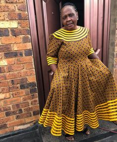 Xhosa Attire, African Attire, African Wear, Latest African Fashion Dresses, African Dresses For Women, Seshweshwe Dresses, African Traditional Wear, Ankara Skirt And Blouse, African Design