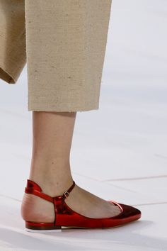 Chloé Spring 2013 // Never ending dancing red shoes..... i would fall for those red ballerinas for sure