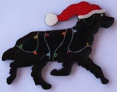 Newfoundland Dog Christmas Pin Magnet or by hansford800 on Etsy