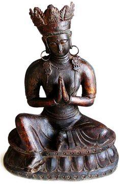 Ming Kwan Yin Blessing Large Wood Buddha