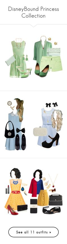 """""""DisneyBound Princess Collection"""" by livalot12 ❤ liked on Polyvore featuring Forever 21, 77Queen, KC Signatures, Halogen, Myrtlewood, INDIE HAIR, ALDO, Harrison Morgan, Ollio and H&M"""