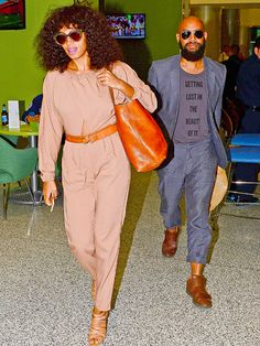 Star Tracks: Monday, November 24, 2014   THE HONEYMOONERS   With their New Orleans nuptials behind them, Solange Knowles and her husband Alan Ferguson head to Miami Beach on Friday.