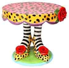 Appletree 10-Inch Sugar High Social by Babs Ceramic Cake Stand .
