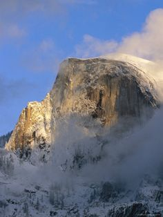 A Wintry View of Half Dome Mountain, Yosemite