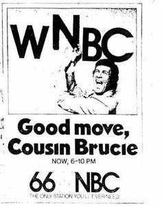 Cousin Brucie WNBC ad