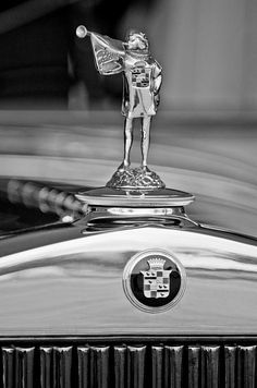 ..._Black and White photos of hood ornaments,
