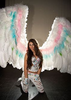 Jackie Ds Impressive Wings Are Pretty Heavy Too And The Birthday Girl Takes A Quick Breather Find This Pin More On My Big Fat American Gypsy