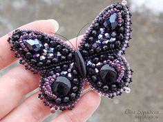 Бабочка-брошь хрустальная | biser.info - всё о бисере и бисерном творчестве