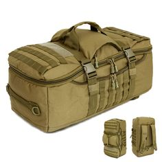 2016 Men Military Tactics Backpack Large Capacity 60L Leisure Multifunction Laptop Backpack Waterproof Nylon Schoolbag F150
