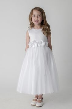 White Flower Girl Bridesmaid First Communion Dress. available in other colours, please see our website. UK supplier ships worldwide.