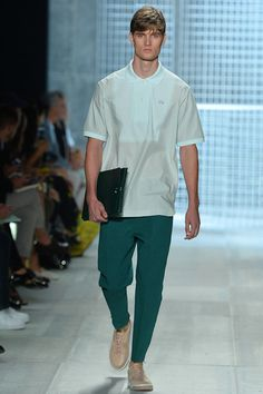 what nice green troos....Lacoste Spring 2014 Ready-to-Wear Collection Slideshow on Style.com