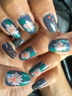 Nail Art, Nails, Painting, Beauty, Artists, Flowers, Finger Nails, Ongles, Painting Art
