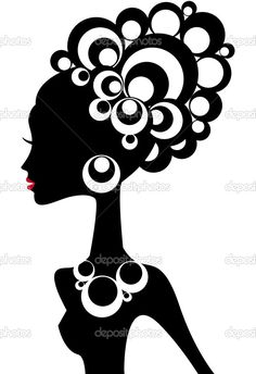 Illustration about Woman silhouette with black hair and jewels. Illustration of breast, jewellery, abstract - 6588004 Black Woman Silhouette, Silhouette Clip Art, Silhouette Pictures, African Women, African Art, African American Hair, Afro Art, Black Art, Female Art