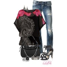 Desigual Bea Blouse, created by lmhall96 on Polyvore
