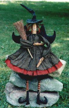 Hickey Hollow Primitive Folk Art Witch doll Patterns