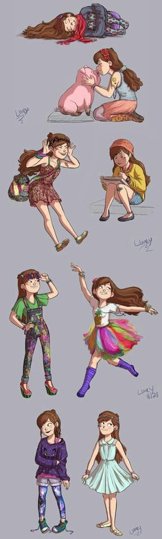 Mabel Pines is adorable. Gravity Falls.