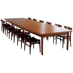 Dining Table in Teak | From a unique collection of antique and modern dining room tables at https://www.1stdibs.com/furniture/tables/dining-room-tables/