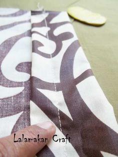 Creativity Tutorial: Make Bolster Pillow (Membuat Sarung bantal Guling)