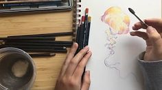 How To Use Watercolor Pencils -Part 1 - YouTube