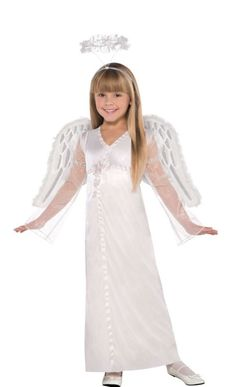 Girls Heavenly Angel Costume - Party City 9.99