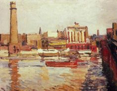 Thames Wharves, 1936 - Duncan Grant