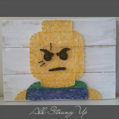 Thanks for looking. Green lego man String Art, Made by hand with love in NSW, Australia. Find the rest of my pictures at the following places.  Find my website at www.allstrungup.com.au Find me on Instagram at https://www.instagram.com/all_strung_up/ Find me on Facebook at https://www.facebook.com/All-Strung-Up-915873695199667/?ref=hl