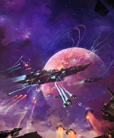 Capital ship surrounded by fighter combat.