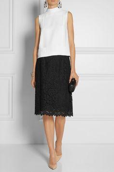 Dolce & Gabbana - Cotton-blend lace skirt