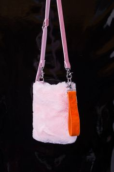 FAUX FUR CROSS BODY BAG - product images  of