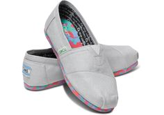 Grey Earthwise Vegan Youth Classics | #TOMS