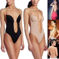 Hot Backless Bra Deep Plunge Thong Clear Strap Convertible Body Shaper  Underwear Backless Body Shaper 1ae2a4feb