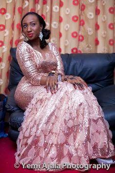 Nigerian wedding muslim Nikkai ceremony ofTemilola & Abdulrahman 22 Reception Dresses, Wedding Reception, Formal Dresses, Traditional Wedding, Muslim, Real Weddings, Ball Gowns, Beautiful, Fashion