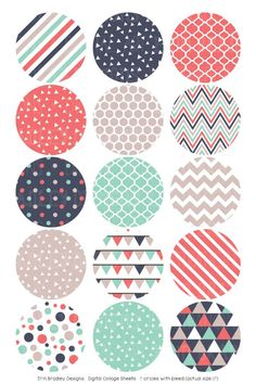 Digital Collage Sheet Digital Bottlecap Images Triangle Collection Personal & Commercial Use One Circle Scrapbook, Scrapbook Paper, Diy Party Crafts, Craft Party, Bottle Cap Crafts, Bottle Caps, Bottle Cap Images, Collage Sheet, Sell On Etsy
