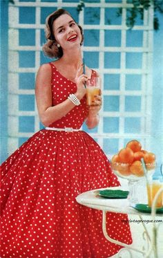 50's housewife. I love the look but loath everything this image represents about women.