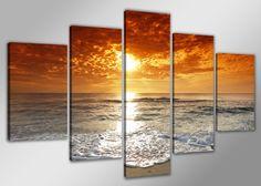 VER Disponibilidad EN www.cuadrosmodernosonline.esPrecioso cuadro de 5 piezas medida total 200 cm de ancho 100 cm largo, enmarcado listo para colgar,