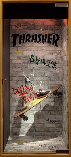 "SENECA, (Visual Merchandising), Toronto, Canada, student project:, ""Thrasher Skate Board Footwear"", pinned by Ton van der Veer"