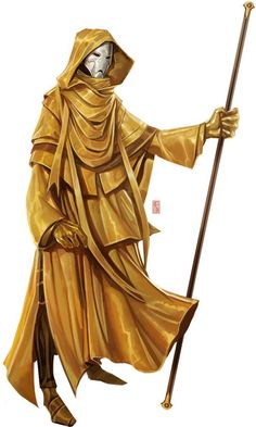 Yellow monk/wizard