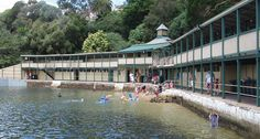Built in the early 1880's, Dawn Fraser Baths in Elkington Park, Balmain is the oldest pool and swimming club in Australia. A Heritage Building on the National Trust. Renovated and preserved for future generations, amenities include solar heating. The baths are tidal flow salt water pool and there is a beach at low tide! After heavy rain, the pool may be closed if the water quality is not to standard. Water temperature is between October and April is 19°C - 23°C.