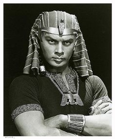 "Yul Brynner ""The Ten Commandments"" 1956 by Yousuf karsh.  ""So let it be written, So let it be done!"" - Great Line!"