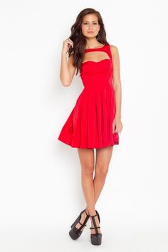 Red cute dress...wish I looked this good in one