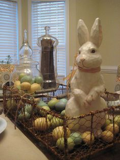 Primitive Easter Table Decoration Ideas | primitive centerpieces for tables | These are 2 of my apothecary jars ...