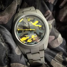 MAD customize Rolex Milgauss 116400, Military DLC, ATD finish, flashy camo dial.