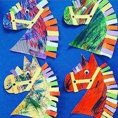 Horse crafts kids, pig crafts, animal crafts for kids, valentine cr Horse Crafts Kids, Farm Animal Crafts, Pig Crafts, Farm Crafts, Animal Crafts For Kids, Camping Crafts, Toddler Crafts, Art For Kids, Rodeo Crafts