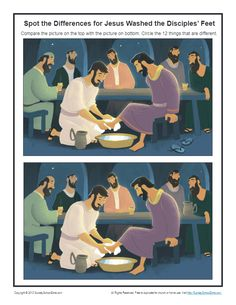 Jesus Washed the Disciples' Feet Archives - Children's Bible Activities | Sunday School Activities for Kids