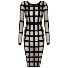 Honey Couture Caged in Striped Bodycon Dress ($111) ❤ liked on Polyvore featuring dresses, sexy midi dresses, striped dress, striped bodycon dress, bodycon midi dress and sexy dresses